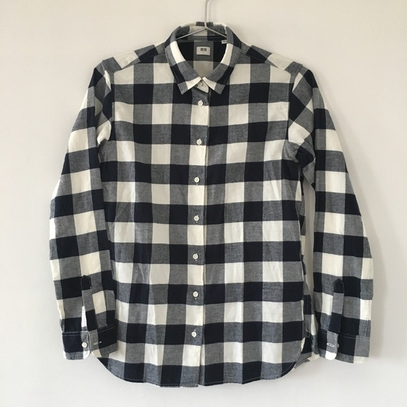 c651e76a Uniqlo Tops | Clearance Soft Plaid Checkered Flannel Top | Poshmark